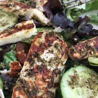 Grilled Halloumi Cheese & Zataar